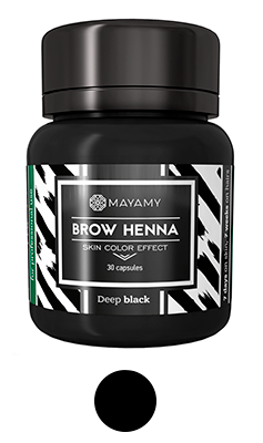 Henna Brows DARK BROWN / 30 capsules