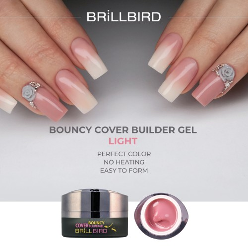 brill cosmetix, brillbird,cover gel,cover builder,bouncy